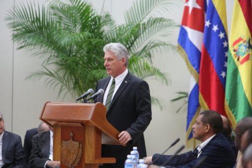 """El principal objetivo de la alianza es el enfrascamiento""""permanente en la construcción, fortalecimiento y defensa de la unidad"""", dijo Miguel Díaz-Canel."""
