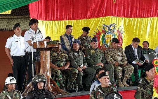 """""""Sobrepasamos la meta de 11.000 hectáreas que se fijó al inicio de este año, esto es resultado de la nacionalización de la lucha contra el narcotráfico, sin imposiciones"""",ratificó Evo."""