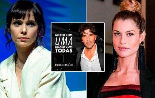 """""""Repudiamos la llegada a Brasil de Darthés(...) Thelma era menor de edad al momento de la violacióny su denuncia se une a la de otras mujeres"""", sostuvo la actriz Débora Falabella."""