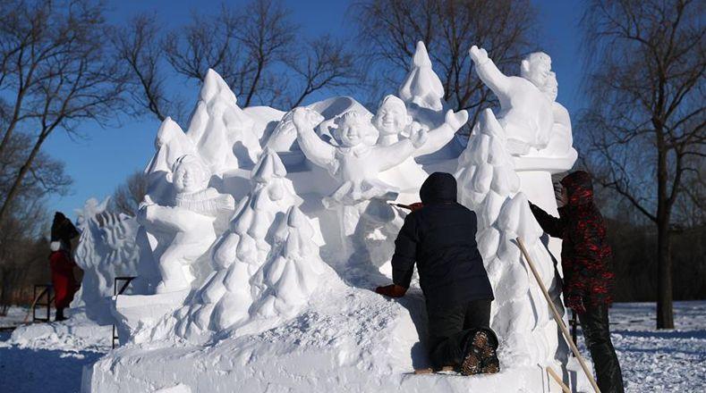 Asombrosas esculturas de nieve nacidas de un concurso en China