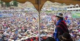 El presidentede Bolivia, Evo Morales, agradeció al pueblo de Cochambapor apoyarsu propuesta política de cara a las elecciones presidenciales de 2019.