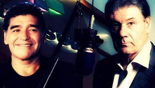 52845191f Diego Armando Maradona y Víctor Hugo Morales juntos gracias a teleSUR  (Foto: Archivo)