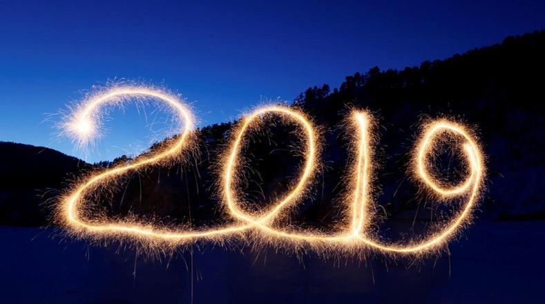 Los habitantes de Rusia recibieron el año nuevo en Krasnoyarsk.