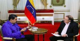 Nicolás Maduro recibió al periodista español en el Palacio de Miraflores.