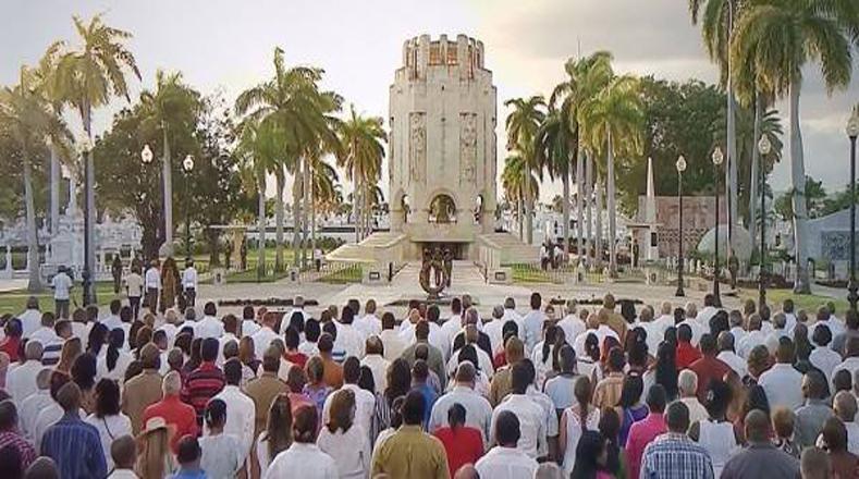 El pueblo de Santiago de Cuba acompañó la jornada histórica.