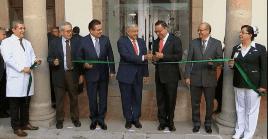 Previo a su discurso, el mandatario inauguró oficinas del IMSS en la entidad en compañía del director general del Instituto, Germán Martínez Cázares.