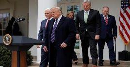 Trump indicó que declarará la emergencia nacional para construir el muro en la frontera con México.