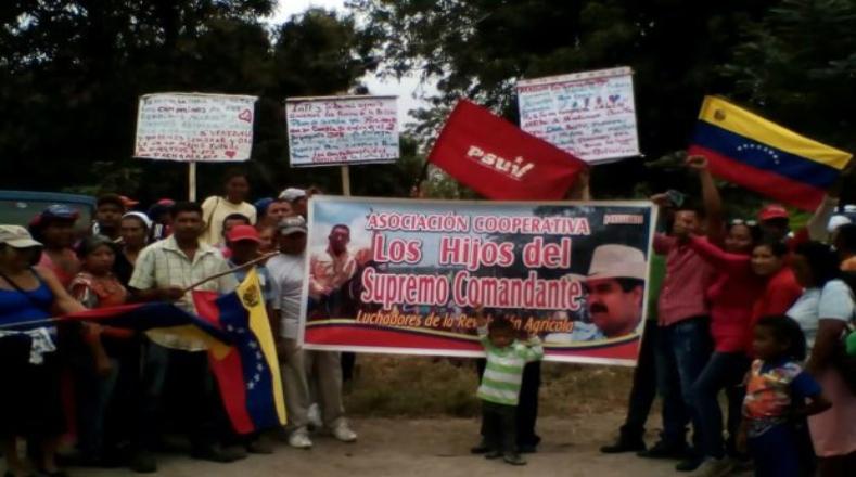 """Las organizaciones campesinas y obreras de Santa Bárabara llamaron a la """"unidad de todo el pueblo, a construir un poderoso movimiento popular contra la agresión imperialista y la amenaza de un nuevo pacto de élites""""."""