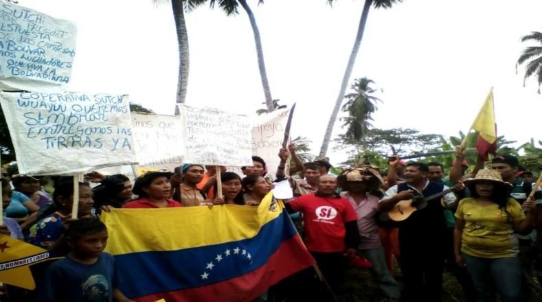 """""""Llegó el momento que nosotros marquemos la pauta para la reivindicación del movimiento campesino. Nosotros somos quienes podemos cambiar el rumbo de esta Patria"""", afirmó uno de los voceros. Este jueves, Nicolás Maduro asumirá su segundo mandato presidencial con el respaldo y la defensa de todo su pueblo bolivariano."""