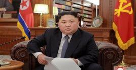 """""""la República Popular Democrática de Corea (RPDC, Corea del Norte) va a seguir comprometida con la política de desnuclearización"""" aseguró el líder norcoreano."""