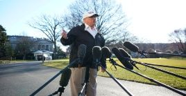 """""""Tengo el derecho absoluto de declarar una emergencia nacional"""", aseguró este jueves el presidente estadounidense."""