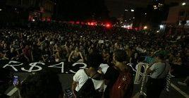 El acto convocó a miles de personas en el centro de la capital paulista.