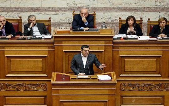 Alexis Tsipras solicitó el apoyo de los parlamentarios en el debate sobre la moción de confianza.