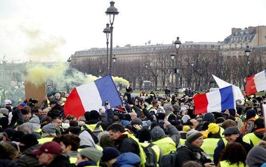 Las marchas de los chalecos amarillos se han movilizado por diez semanas consecutivas.