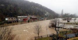 Las regiones de Catanbria y el Principado son las más afectadas con inundaciones tras las fuertes lluvias.