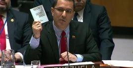 """""""No van a lograr llevarnos a una guerra civil en Venezuela"""", aseguró el canciller venezolano Jorge Arreaza ante el Consejo de Seguridad de la ONU."""