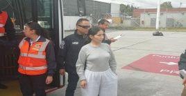 Alias Sonia se encontraba recluida en la cárcel de El Buen Pastor, en Bogotá, tras ser deportada de EE.UU. en septiembre de 2018