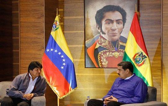 Ambos mandatarios conversaron sobre temas de interés regional y la amenazas intervencionistas de EE.UU.