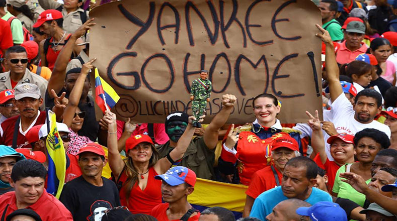 En paz y alegría, los manifestantes mostraron su apoyo al presidente Nicolás Maduro y rechazaron la injerencia extranjera en Venezuela.
