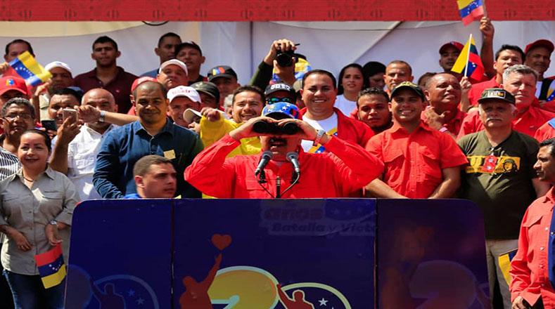 """""""Hemos ganado la paz, la paz se ha impuesto nuevamente, no pudieron llenar de violencia a Venezuela"""", destacó el presidente Nicolás Maduro durante su discurso."""