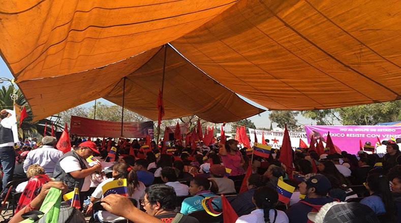 En México y otros países de la región, también se sumaron a la conmemoración y rechazaron la intervención de Estados Unidos en Venezuela.