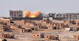 La ofensiva destruyó un sistema de artillería antiaérea y dejó al menos dos efectivos del Ejército sirio heridos.