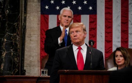 """Principalmente, el mandatario abarcó la construcción del muro como su prioridad, afirmando que el muro """"se va a construir""""."""