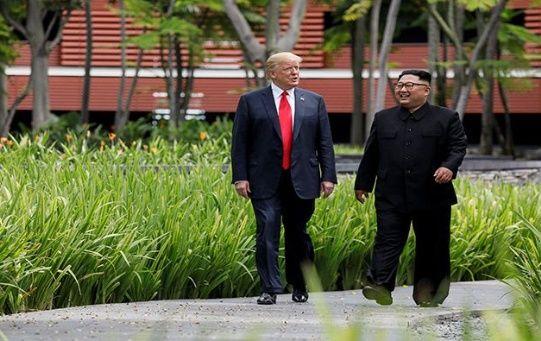 Trump y Kim Jong- un acordaron en 2018 avanzar en la desnuclearización de Corea del Norte.