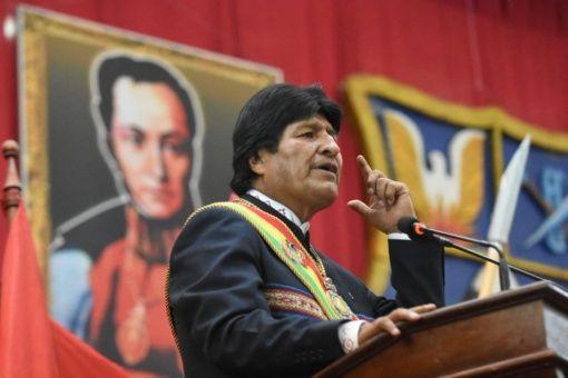 """Morales a interrogé les dirigeants qui avaient choisi de soutenir l'autoproclamation de Guaidó en tant que """"président en charge"""" du Venezuela."""