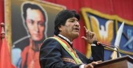 """Morales cuestionó a aquellos mandatarios que optaron por apoyar la autoproclamación de Guaidó como """"presidente interino"""" de Venezuela."""
