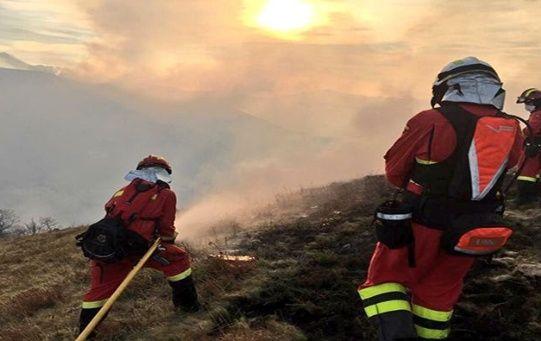 Más de 700 personas colaboran en las labores de extinción de los incendios en España.