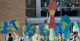Unas 60 ciudades inglesas se han sumado a la huelga por el clima como parte del movimiento creado.