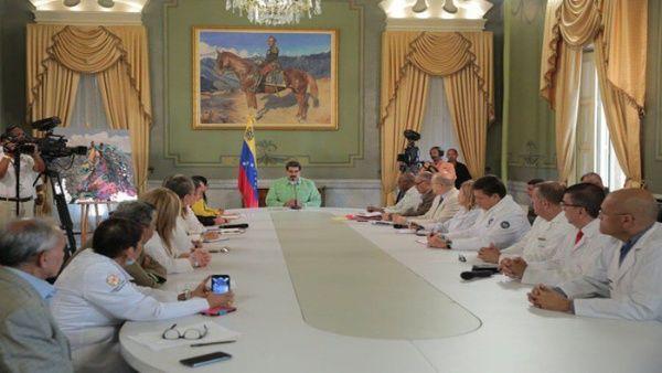 En la reunión de trabajo se encuentran representantes de Rusia, Cuba y de la Organización Panamericana de la Salud (OPS).