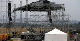 El escenario principal fue emplazado en el Puente Internacional de Tienditas, en la frontera de Colombia y Venezuela.