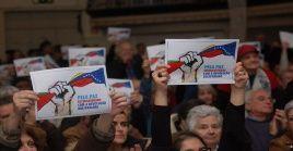 En Portugal se realizó un acto de solidaridad por la defensa de la paz e independencia de Venezuelaen Lisboa (capital).