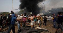 """Tras fracasar en el ingreso ilegal de """"ayuda humanitaria"""", el opositor Juan Guidó, funcionarios de EE.UU. y aliados de la región amenazan con escalar las acciones contra Venezuela."""