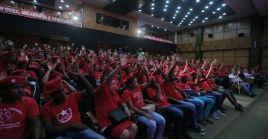 """El evento llevó la consigna de """"Paz en Soberanía en Solidaridad con Cuba, Nicaragua y Venezuela""""."""