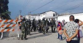 Representantes docentes del Cauca condenaron la actuación del Esmad contra la manifestación pacífica.