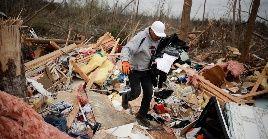 La franja de destrucción causada por uno de los tornados fue de 400 metros de ancho.
