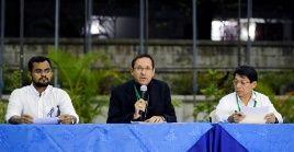 Rueda de prensa en Managua, 5 de marzo del 2019.