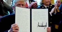 Trump invocó la emergencia nacional el pasado 15 de febrero con el objetivo de lograr los fondos negados por el Congreso para la construcción del muro fronterizo.