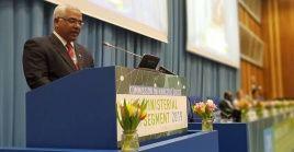 El ministro de Justicia de Cuba, Óscar Manuel Silvera Martínez, reitera el compromiso de su país en la lucha contra las drogas.