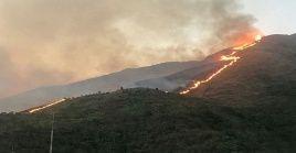 El incendio consumió 50 hectáreas del parque nacional Waraira Repano.