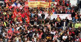 Esta es la segunda movilizacion que realizan los sindicatos franceses en contra delasmedidas y políticasdel Gobierno de Macron.