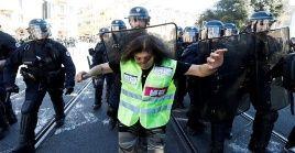 A pesar del despliegue policial y militar en la marcha número 19, la cifra de manifestantes alcanzó 40.500 personas a nivel nacional y 32.000 en París.