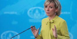 La portavoz del Ministerio de Relaciones Exteriores de Rusia, María Zajárova, le recordó a EE.UU. que debe cumplir con las promesas dichas.