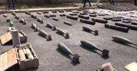 Entre los objetos decomisados en este nuevo hallazgo había misiles de tipo antitanque TOW.