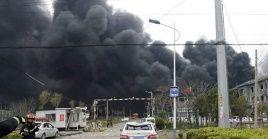 Las autoridades chinas informaron que la explosión se debió a una fuga de gas licuado.
