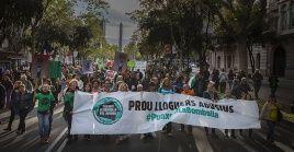 La marcha se enmarcó en una protesta a nivel europeo.