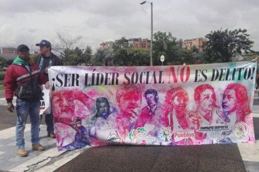 El pasado 9 de abril se realizó en Bogotá una movilización para reclamar justicia para los casi 600 líderes sociales asesinados desde 2016.